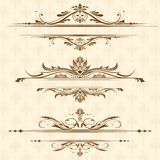 Vintage Floral Border Stock Photo