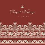 Vintage Floral border. Royalty Free Stock Images