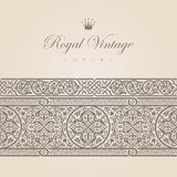 Vintage Floral border Royalty Free Stock Image