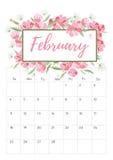 Vintage floral calendar 2018 Stock Images
