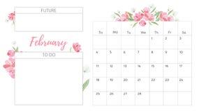Vintage floral calendar 2018 Royalty Free Stock Photo