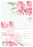 Vintage floral calendar 2018 Royalty Free Stock Photography