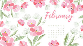 Vintage floral calendar 2018 Royalty Free Stock Photos