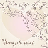 Vintage Floral Card Royalty Free Stock Images