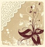 Vintage floral card Royalty Free Stock Photo