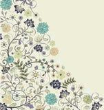 Vintage floral card Stock Image