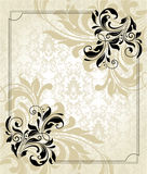 Vintage floral card Royalty Free Stock Photography