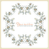 Vintage floral card. Royalty Free Stock Photo