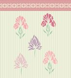 Vintage floral card background vector Stock Image