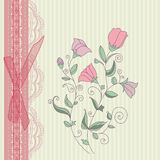 Vintage floral card background vector Royalty Free Stock Images