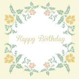 Vintage floral card with inscription happy birthday Royalty Free Stock Images