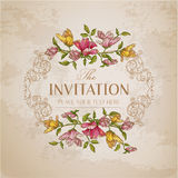Vintage Floral Card Royalty Free Stock Photos