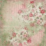 Vintage Floral Collage Background - Damask - Cottage Roses - Pink - Shabby Chic Paper. Soft and feminine collage background paper featuring multiple layers and vector illustration