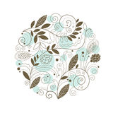 Vintage floral composition royalty free illustration