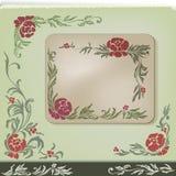 Vintage floral corner decoration design set Stock Photography
