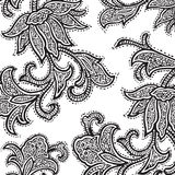 Vintage floral damask scrapbook background Royalty Free Stock Images