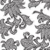Vintage floral damask scrapbook background. Illustration Royalty Free Stock Images