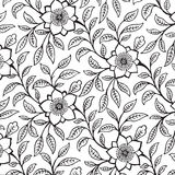 Vintage floral damask scrapbook background. Illustration Stock Photography