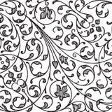 Vintage floral damask scrapbook background Royalty Free Stock Image