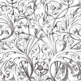 Vintage floral damask scrapbook background Stock Photos