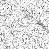 Vintage floral damask scrapbook background Royalty Free Stock Photography