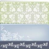 Vintage floral decoration design set Royalty Free Stock Photography