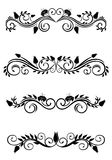 Vintage floral decorations Royalty Free Stock Photos