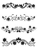 Vintage floral decorations Royalty Free Stock Photo