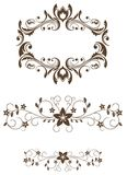 Vintage floral decorations Royalty Free Stock Images