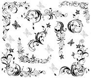 Vintage floral decorative elements Stock Images