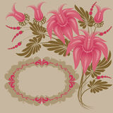 Vintage floral design. Royalty Free Stock Photography