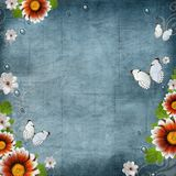 Vintage Floral design background Stock Photo