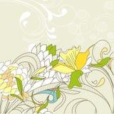 Vintage floral design element Stock Photo