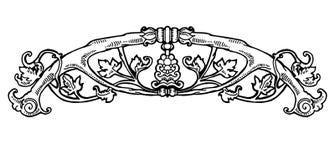 Vintage floral design element. Decorative element at engraving style. Stock Image
