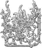 Vintage floral design element Stock Photos