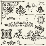 Vintage Floral Design Elements Royalty Free Stock Photos