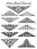 Vintage floral elements vector illustration