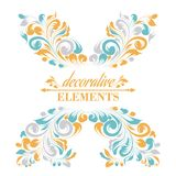 Vintage floral elements. Royalty Free Stock Photo