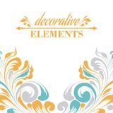 Vintage floral elements. Royalty Free Stock Photography