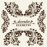 Vintage floral elements. Stock Photo