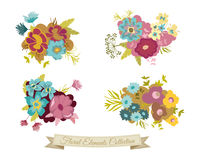 Vintage Floral Elements Collection Stock Photo