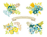 Vintage Floral Elements Collection Royalty Free Stock Images