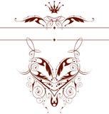 Vintage floral emblem Royalty Free Stock Images