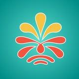 Vintage floral emblem design Royalty Free Stock Image
