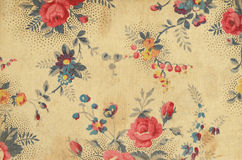 Vintage floral fabric Stock Photo