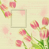 Vintage floral foto frame Royalty Free Stock Photo