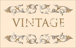 Vintage floral frame Stock Photography