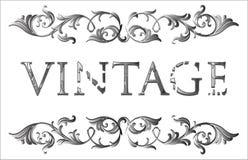 Vintage floral frame stock illustration