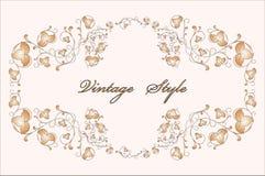 Vintage floral frame royalty free illustration