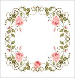 Vintage floral frame stock illustration